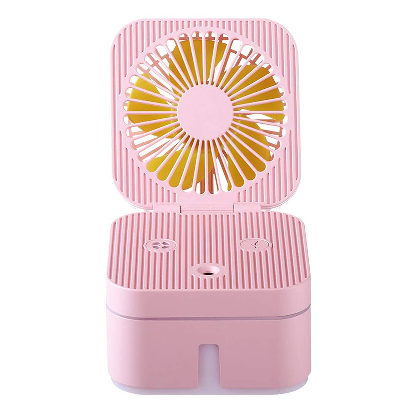 Philoween Humidifier with Atmosphere Lamp Office Portable Air Purification Humidifier Fan Mini Fan Portable Fan for Office Home Travel