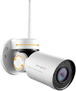 [Pan Tilt & Built-in Audio] xmartO Add-on 960p HD Wireless Security Surveillance Outdoor Pan Tilt WiFi Camera with Audio, ...