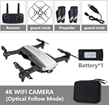 OUYAWEI Drone Drone x pro 5G Selfie WiFi FPV with 4K HD Dual Camera Foldable RC Quadcopter 4K Black 1 Battery