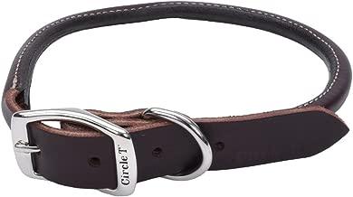 Coastal Pet Circle T Nickel Buckle Latigo Leather Round Dog Collar 1