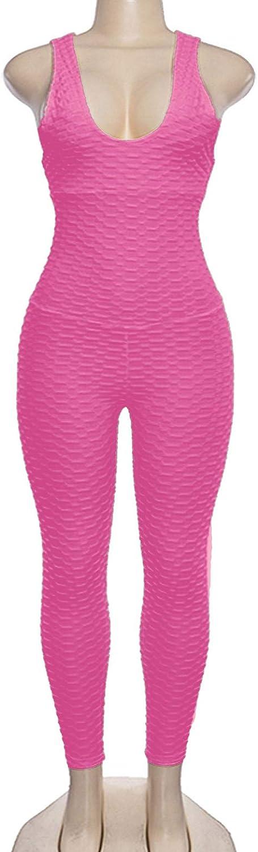 iiniim Mono Deporte para Mujer Mallas Pantalones Deportivos Leggings Alta Cintura para Yoga Running Fitness Jumpsuit El/ástico y Transpirable