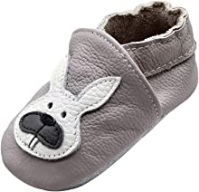 iEvolve Baby Leather Shoes Baby Slippers Soft First Walker Shoes Crib Shoes Moccasins for Toddlers