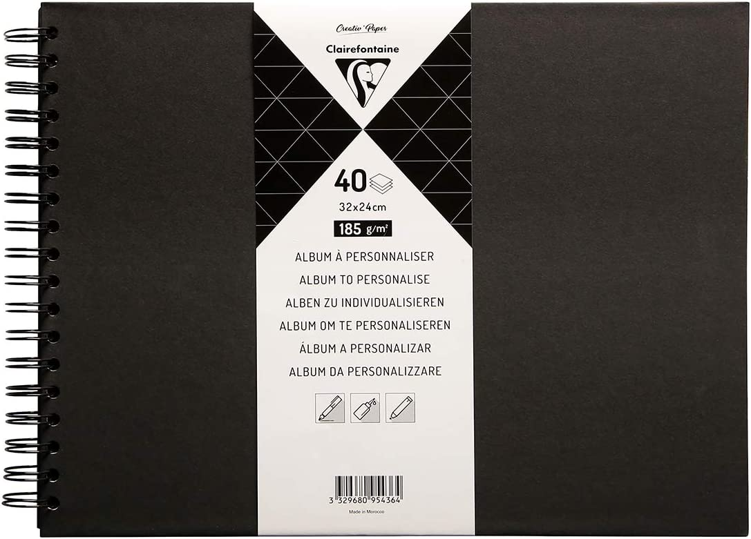 Clairefontaine 95436C Philadelphia Mall 40% OFF Cheap Sale - Personal Album Sheets Blac 185g of 40