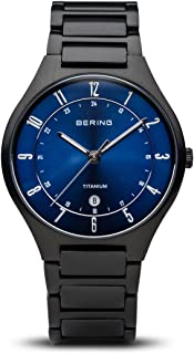 Time 11739-727 Mens Titanium Collection Watch with Titanium Band and Scratch Resistant Sapphire Crystal. Designed in Denmark.