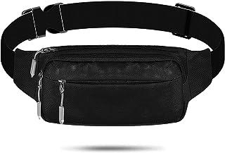 Black Fanny Pack, Waist Pack Bag for Men Women