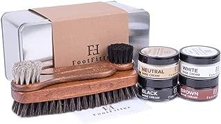 Shoe Shine Brush and Polishing Set - (4) Shoe Creams, (3) Horsehair Brushes, (2) Microfiber Shine Cloths, (1) Gift Tin!