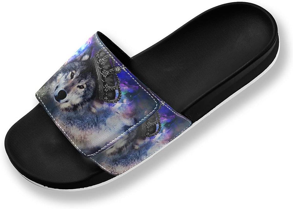 sold out Choice xigua Wolf King Galaxy Men's Slide Lightweight Sandals Comfort N