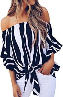 YKA Word Collar Shirt Women 2018 New Strap Strapless Short-Sleeved Chiffon Shirt