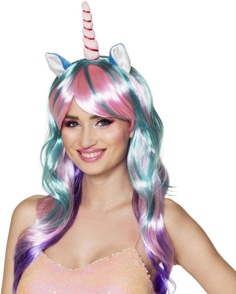 Blu Navy MagiDeal Corno del Unicorno Partito Cosplay Cappelli Fascia per Adulti