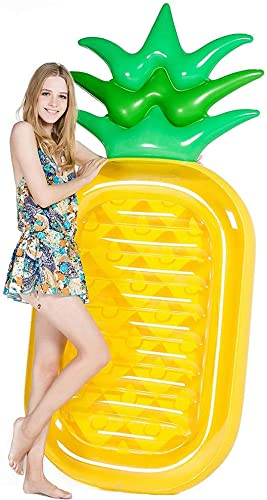 DDPP Inflatable Ananas Pool Float, Foot Outdoor Pool, Inflatable Summer Party Floatie Leisure Toys für Kinder und Erwachsene (Ananas)