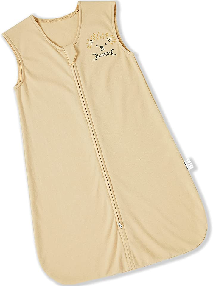 DuoMiaoMiao Baby Sleep Bag,Plush Wearable Blanket with Inverted Zipper (BEIGE, L)