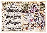 Die Staffelei Geschenk Karte A5 Berufsbild Fliesenleger Zeichnung mit Gedicht