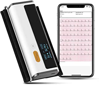 ViATOM Armfit Plus Monitor de presión arterial Bluetooth con Electrocardiograma, brazalete del brazo superior, monitor inalámbrico de salud cardíaca con App para la presión ECG y frecuencia cardíaca
