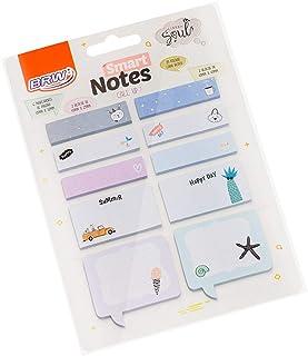 Kit com Bloco Adesivo e Marcadores de Páginas, BRW, Smart Notes, Call Up Verão
