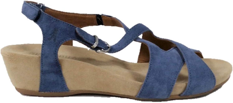 BENVADO , Damen Sandalen Blau Marineblau