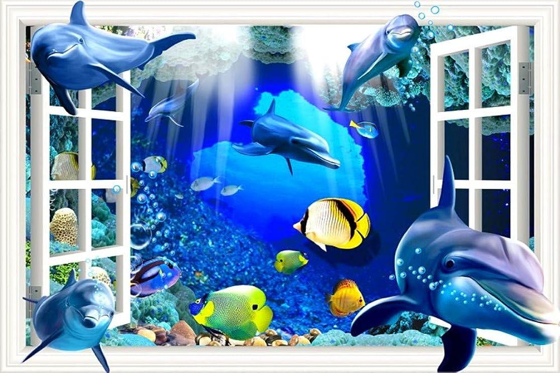 GDPOOTREE 3D Wall Sticker Cartoon Shark Decals 3D Wall Decal Nursery Wall Art Home Decor Poster Stickers for Baby Room,4060Cm 1624Inch jezxkunl0