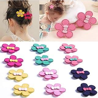 Baby Girls Mini Hair Barrettes,Sun Flowers Hair Clips Barrettes For Girls Toddler Infant Kids Women No Slip(Pack of 12)