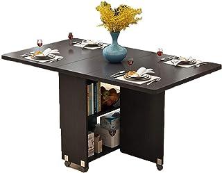 AOIWE Home Moderne Simple Mobilier Multifonctionnel Pliant en Bois Table de Salle à Manger Salon Cuisine Table de Rangemen...
