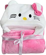 My Newborn Baby Polar Fleece Hooded Blanket, Pink and White