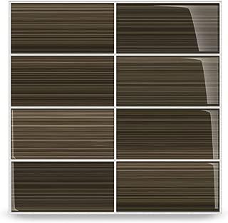 Bodesi Mississippi Mud Glass Subway Tile for Kitchen Backsplash or Bathroom, Color Sample