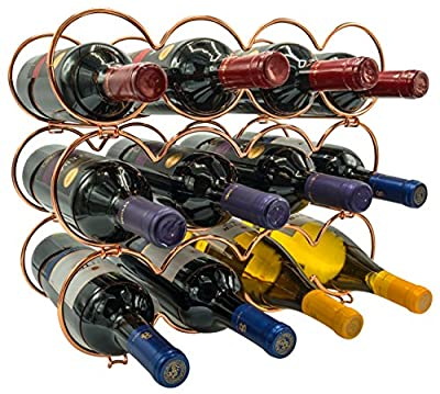 Sorbus 3-Tier Stackable Wine Rack - Round Classic Style Wine Racks for Bottles - Perfect for Bar, Wine Cellar, Basement, Cabinet, Pantry, etc - Hold 12 Bottles, Metal