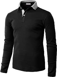 Mens Casual Slim Fit Polo Shirt Tops Lightweight Longsleeve Basic Designed