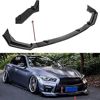 MotorFansClub 3pcs Front Bumper Lip Splitter for Infiniti Q50 sport 2014-2017 Trim Protection Splitter, Carbon Fiber