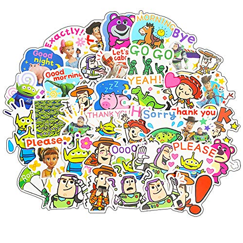 XZZ Toy Story Emoticon Pack Sticker Notebook Phone Shell Water Cup Decoration Waterproof Sticker 40Pcs
