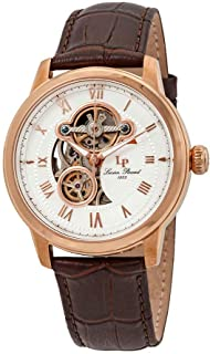 Lucien Piccard Men's LP-12524-RG-02-BRW Optima Analog Display Automatic Self Wind Brown Watch