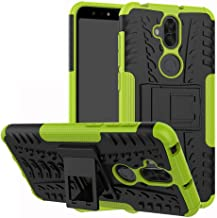 ZenFone 5Q ZC600KL case,LiuShan Shockproof Heavy Duty Combo Hybrid Rugged Dual Layer Grip Cover with Kickstand for ASUS ZenFone 5Q (ZC600KL) 6.0-inches Smartphone (with 4in1 Packaged),Green