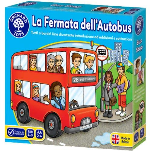 Orchard Toys - La Fermata dell'Autobus, Gioco da Tavolo Educativo (Versione Italiana)