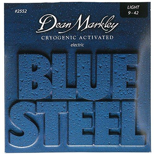 Dean Markley Blue Steel Electric LT 2552 - Juego de cuerdas para guitarra eléctrica de acero.009-.042