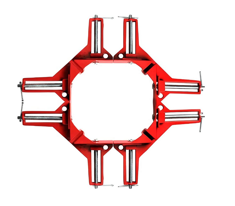 セイはさておき代わりに葉っぱDIY 工具 木工用 溶接 コーナークランプ 4個 セット (オレンジ4個)