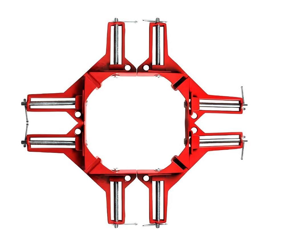 不名誉年可能性DIY 工具 木工用 溶接 コーナークランプ 4個 セット (オレンジ4個)