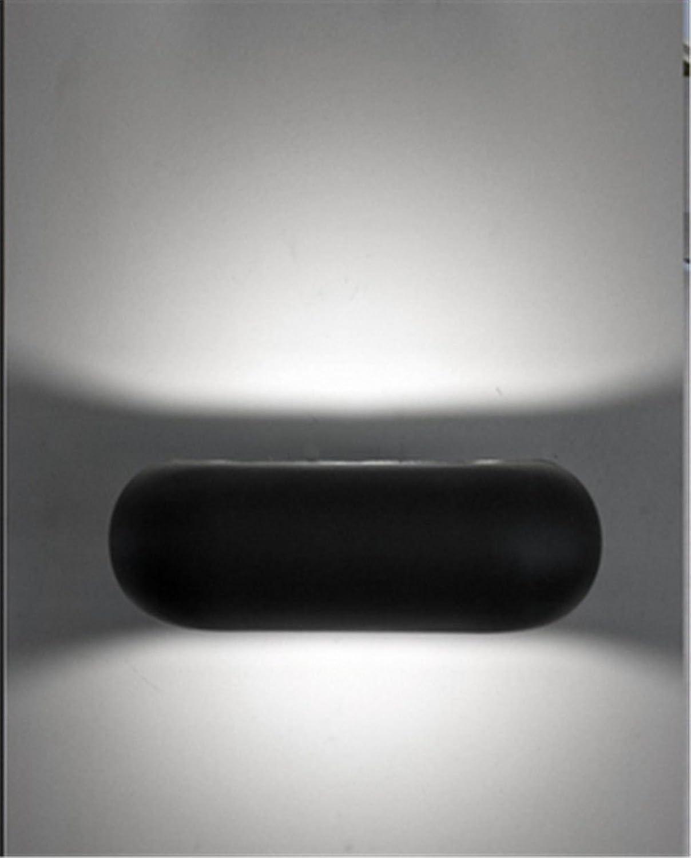 StiefelU LED Wandleuchte nach oben und unten Wandleuchten Indoor LED Licht nach oben und unten Stirnwand Lampe, schwarz, weies Licht 12 W