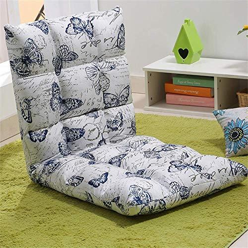 GAXQFEI Übergroße Bodenstuhl Faltbare Lazy Lounge Sofa Gaming Couch Einstellbare Rückenlehnenstühle Mit Abnehmbarer Waschbarer Abdeckung,# 8.