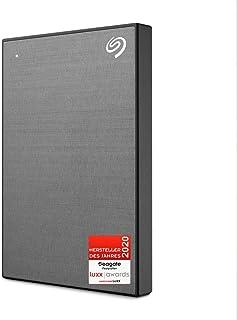 Seagate One Touch tragbare externe Festplatte 1 TB, PC, Laptop & Mac, USB 3.0, Space Grau, inkl. 2 Jahre Rescue Service, Modellnr.: STKB1000404