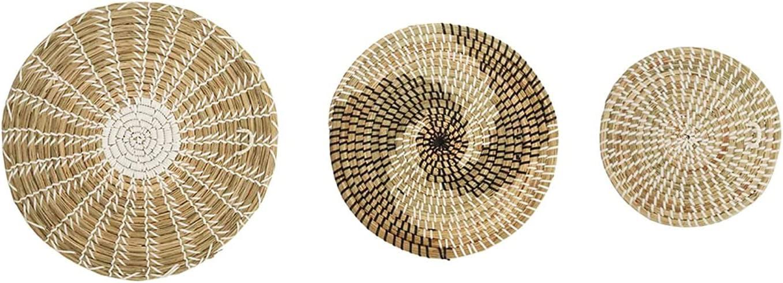 Woven Boho Wall Basket Decor List price -Set Hanging Ranking TOP15 Baskets Handmade of 3-
