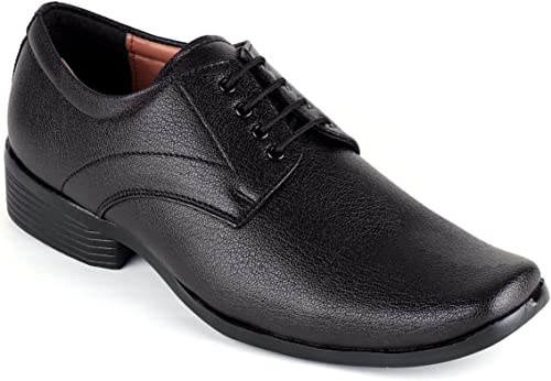 Black Colour Micro Leather Office wear Shoes for Men