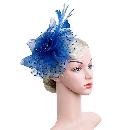 Czioe Flower Cocktail Tea Party Headwear Derby Wedding Kentucky Mesh  Feather Fascinators Hats for Girls and 3ade5ecc733