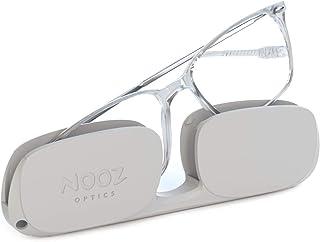 Nooz Optics - Occhiali da lettura - Essential Bao - Forma Rettangolare - Montatura ultraleggera in nylon - Custodia ultra ...