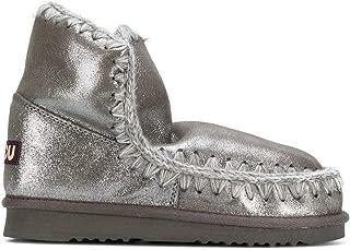 Mou Luxury Fashion Womens ESKIMO18MGLAP Silver Ankle Boots | Fall Winter 19