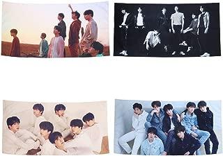 Tretree BTS Tapestry Love Yourself Fake Love V Suga Jimin Jung Kook Wall Hanging Decor for Home BTS