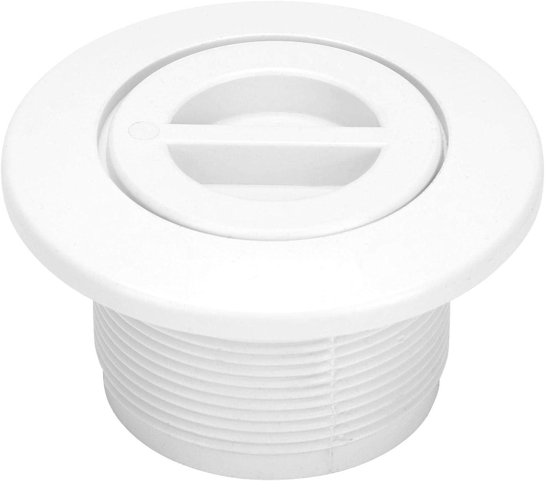 EVTSCAN Reemplazo de Enchufe de línea de Retorno de Piscina roscado de línea de natación de 2 Pulgadas para Salida de succión de Limpiador de Piscina - Blanco