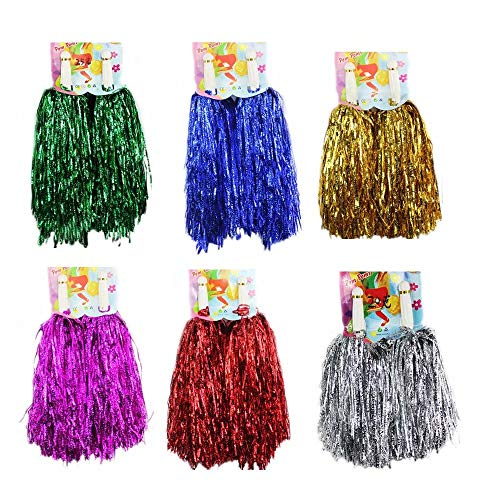 1 Dutzend Cheerleading Pompons, CRIVERS 12pc Cheerleader Pompoms für Ball Tanzen Schick Kleid Nacht Party Sports (Mischfarben)