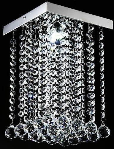 5W à montage encastré, moderne contemporaine pour le cristal de fonction Electroplated LED Mini style salle CrystalLiving chambre à coucher,-90-240blanc v  3416