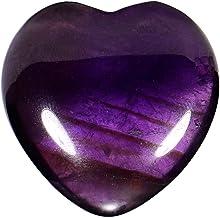 Morella piedras preciosas gema Amatista forma de corazón Ángel de la Guarda protector de 3 cm en una bolsa de terciopelo