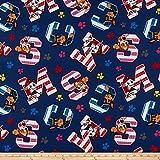 David Textiles Nickelodeon Paw Patrol Favorite Pups Fabric, Navy, Fabric By The Yard