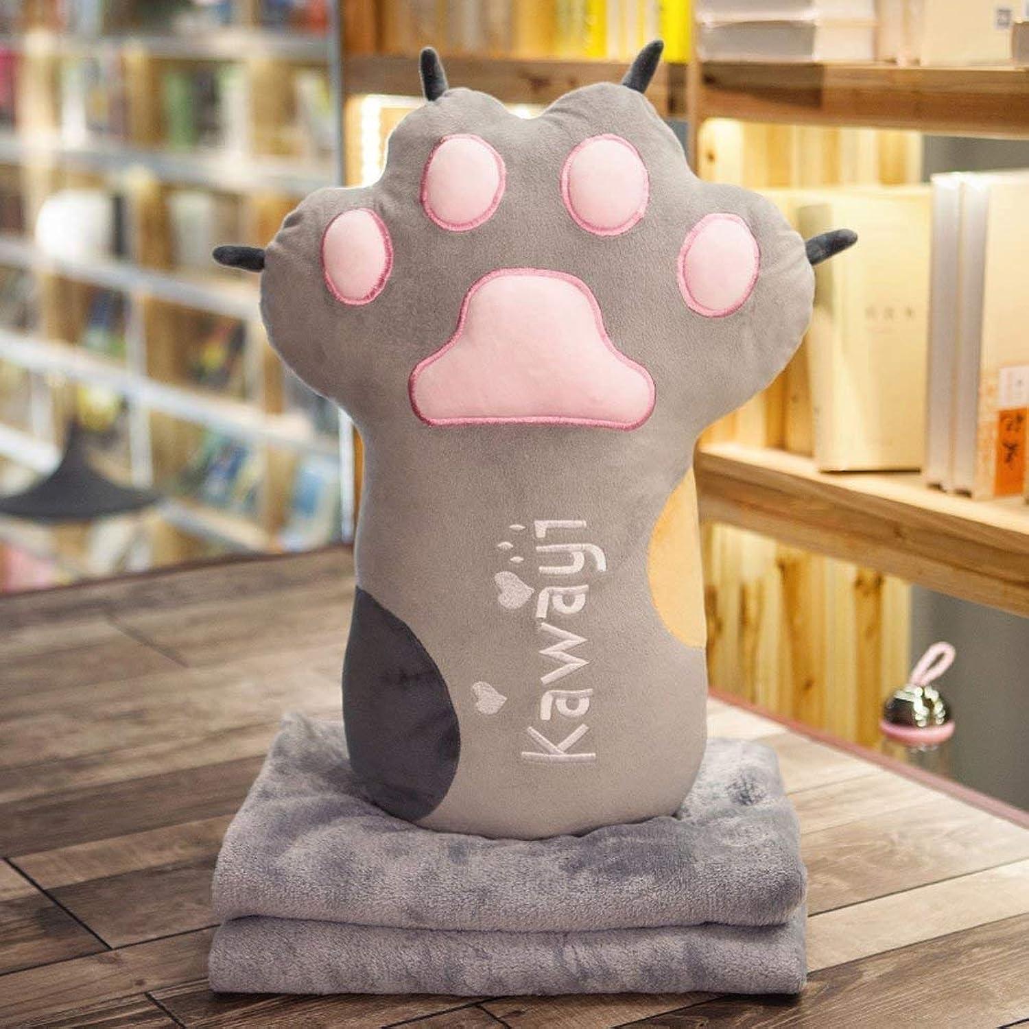 Babyspielzeug Schöne Katze Krallen Halten Kissen Quilt Dual-use Home Office Cartoon Haarkissen Decke Puppe B07PCP28GX