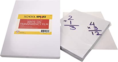 School Smart Write-On Transparency Films, 8-1/2 x 11 Inches, Clear, Pack of 100